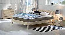 Boxspringbett aus Holz Nias, 140x200 cm, Buche