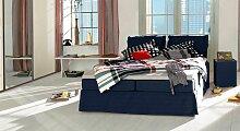 Boxspringbett Cushion, 200x220 cm, blau