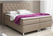 Boxspringbett Fayette Marlow Home Co. Farbe: Muddy