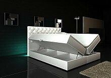 Boxspringbett Weiß Panama Lift 140x200 inkl. 2