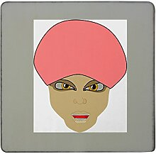 boy with turban hardboard square fridge magne