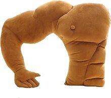 Boyfriend Kissen Arm Unterstützung Kissen gefüllt Plüsch Weiches Spielzeug Auto Stuhl Sitz Muskel Arm Man Hug Body Warm Braun Bed Sleep Kissen