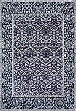 boyteks bis Chenille medenales Teppich-Möbel Rutschfest 68 x 100 cm blau