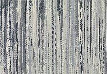 boyteks bis Chenille Rebel Teppich-Möbel Rutschfest, Acryl/Polyester/Baumwolle, Blau 55 x 140 cm