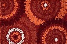boyteks bis Milano Design Teppich für Möbel, Polypropylen, Rot, 100x 180