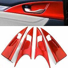 BOYUER 4 x Auto-Innentürgriff-Aufkleber für
