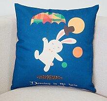 Bozenghoey Das Bett Rückenlehne Kopfstütze Für Automobil Mit Core Office Sofa Kissen Kissen Polster In Der Hüfte, 45 X 45 Cm Jacke Core, Weiße Kaninchen