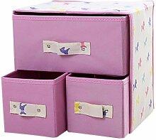 BOZEVON Aufbewahrungsboxen - 2 Tier Faltbare