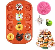 Bozoa Donut Backform - Einhorn Donut Form Silikon