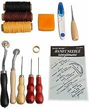 bqlzr 13Teile Leder Craft Werkzeuge Nähset DIY