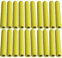 bqlzr gelb Holz Datei Griff Datei Werkzeug für Grill Griff Dateien Ersatz Hartholz DIY Griff Tools 20Stück