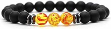 BRACELET Gelb Anhänger Trendy Matte Black Lava