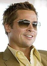 Brad Pitt # 2 Filmposter mit lächelndem Stern,