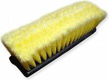 Bradas ES2353H Profi Autowaschbürste mit Wasserdurchlauf, weich, gelb, 25 x 15 x 10 cm