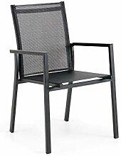 Brafab Avanti Stapelstuhl, Aluminium/Textilgewebe