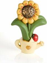 BRANDANI Luftbefeuchter Sonnenblume aus Keramik
