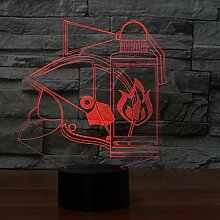 Brandbekämpfung Werkzeuge 3D Tischlampe 7 Farben