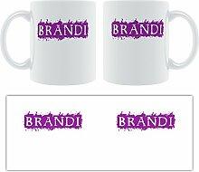 Brandi-Grunge, Design-Becher aus Keramik,