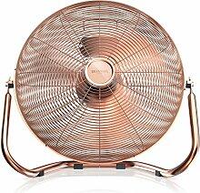 Brandson - Retro Windmaschine / Ventilator im Kupfer-Design (Retro-Stil)   Standventilator 50cm   Leistungsaufnahme 120W   hoher Luftdurchsatz   Bodenventilator