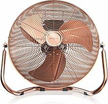 Brandson - Retro Windmaschine / Ventilator | Standventilator 35cm | hoher Luftdurchsatz | Tischventilator / Bodenventilator | im edlen Kupfer-Design
