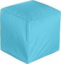 BRANDSSELLER Outdoor Cube Sitzwürfel Sitzsack Sitzhocker Sessel - für den Wohn- und Gartenbereich - 45x45x45 cm - Türkis