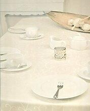 Brandsseller Tafeldecke Tischdecke Tischläufer - für Festliche Anlässe - ca 150 x 200 cm - Ecrú