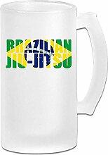 Brasilianische Jiu Jitsu Flagge DIY Druck Glas
