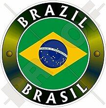 BRASILIEN BRASILIEN Flagge Brasilianerin 100mm Auto & Motorrad Aufkleber, Vinyl Sticker