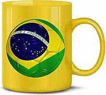Brasilien Brazil Brasil Fan Artikel 5151 Fuss Ball