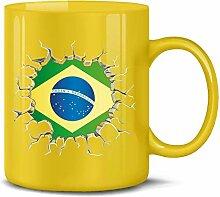 Brasilien Brazil Brasil Fan Artikel 5671 Fuss Ball