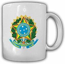 Brasilien Wappen República Federativa do Brasil Emblem - Tasse Becher Kaffee #13425
