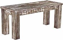 Brasilmöbel Sitzbank 'Rio Classico' 100 x 38 x 44 cm, Pinie Massivholz, Farbton Shabby antik