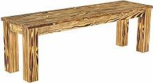 Brasilmöbel Sitzbank 'Rio Classico' 140 x 38 x 44 cm, Pinie Massivholz, Farbton geflamm