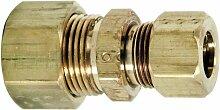 Brasscraft 62-6-4 3/8 O.D. by 1/4 O.D. Reducing Union, Rough Brass by BrassCraf
