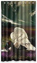 Brauch Angel Engel Fenster Vorhang Window Curtain Licht Beweis Polyester Fabrik für Schlafzimmer oder Wohnzimmer 127 Zentimeters x 213 Zentimeters (ein Stück)