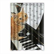 Brauch Animal Footprints Tier Abdrücke Fenster Vorhang Window Curtain Licht Beweis Polyester Fabrik für Schlafzimmer oder Wohnzimmer 132 Zentimeters x 183 Zentimeters (ein Stück)
