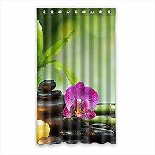 Brauch Bamboo Bambus Fenster Vorhang Window Curtain Licht Beweis Polyester Fabrik für Schlafzimmer oder Wohnzimmer 127 Zentimeters x 213 Zentimeters (ein Stück)