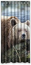 Brauch Bear Bär Fenster Vorhang Window Curtain Licht Beweis Polyester Fabrik für Schlafzimmer oder Wohnzimmer 132 Zentimeters x 275 Zentimeters (ein Stück)