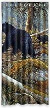 Brauch Bear Bär Fenster Vorhang Window Curtain Licht Beweis Polyester Fabrik für Schlafzimmer oder Wohnzimmer 132 Zentimeters x 183 Zentimeters (ein Stück)