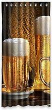 Brauch Beer Mug Bierkrug Fenster Vorhang Window Curtain Licht Beweis Polyester Fabrik für Schlafzimmer oder Wohnzimmer 132 Zentimeters x 275 Zentimeters (ein Stück)