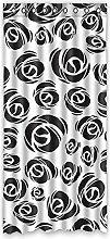 Brauch Black Rose Fenster Vorhang Window Curtain Licht Beweis Polyester Fabrik für Schlafzimmer oder Wohnzimmer 127 Zentimeters x 275 Zentimeters (ein Stück)