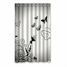 Brauch Butterfly Schmetterling Fenster Vorhang Window Curtain Licht Beweis Polyester Fabrik für Schlafzimmer oder Wohnzimmer 132 Zentimeters x 213 Zentimeters (ein Stück)