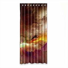 Brauch Cloud Wolke Fenster Vorhang Window Curtain Licht Beweis Polyester Fabrik für Schlafzimmer oder Wohnzimmer 127 Zentimeters x 275 Zentimeters (ein Stück)
