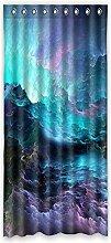 Brauch Clound Wolke Fenster Vorhang Window Curtain Licht Beweis Polyester Fabrik für Schlafzimmer oder Wohnzimmer 127 Zentimeters x 275 Zentimeters (ein Stück)