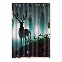 Brauch Deer Hirsch Fenster Vorhang Window Curtain Licht Beweis Polyester Fabrik für Schlafzimmer oder Wohnzimmer 132 Zentimeters x 183 Zentimeters (ein Stück)