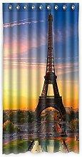 Brauch Eiffel Tower Eiffelturm Fenster Vorhang Window Curtain Licht Beweis Polyester Fabrik für Schlafzimmer oder Wohnzimmer 127 Zentimeters x 244 Zentimeters (ein Stück)