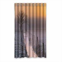 Brauch Fog Zahn Fenster Vorhang Window Curtain Licht Beweis Polyester Fabrik für Schlafzimmer oder Wohnzimmer 127 Zentimeters x 213 Zentimeters (ein Stück)