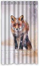 Brauch Fox Fuchs Fenster Vorhang Window Curtain Licht Beweis Polyester Fabrik für Schlafzimmer oder Wohnzimmer 127 Zentimeters x 213 Zentimeters (ein Stück)