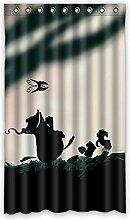 Brauch Frog Frosch Fenster Vorhang Window Curtain Licht Beweis Polyester Fabrik für Schlafzimmer oder Wohnzimmer 127 Zentimeters x 213 Zentimeters (ein Stück)