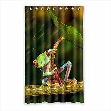 Brauch Frog Frosch Fenster Vorhang Window Curtain Licht Beweis Polyester Fabrik für Schlafzimmer oder Wohnzimmer 132 Zentimeters x 213 Zentimeters (ein Stück)